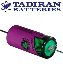 Tadiran TL-5955 (P) 2/3AA Lithium Battery with Axial Leads