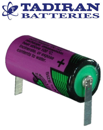Tadiran TL-5955 (T) 2/3AA Lithium Battery with Solder Tags