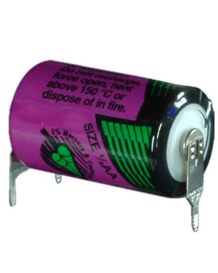 Tadiran TL-5902 (TP) 1/2AA 3.6V Lithium with 3-Pin (D-7mm S+)