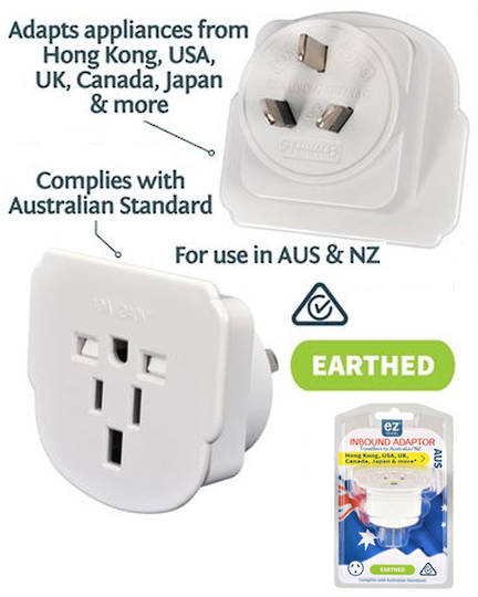 Travel Adaptor for use in New Zealand and Australia