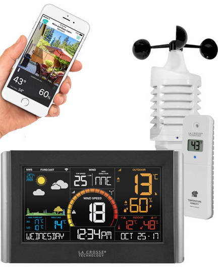 V21-WTHV3 La Crosse Personal WIFI Wind Weather Station