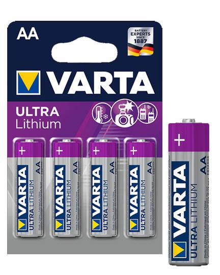 VARTA AA Size Lithium Battery 4 Pack