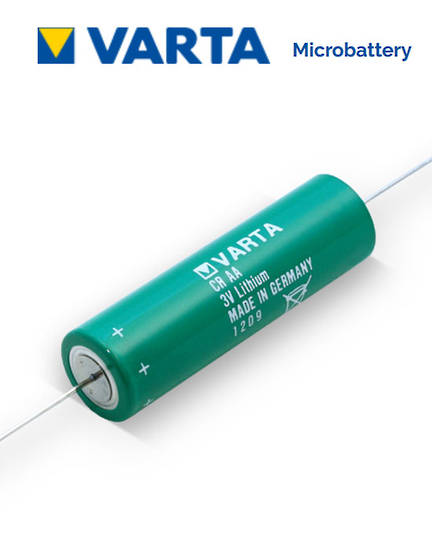 VARTA CR AA Lithium Battery with Axial Lead