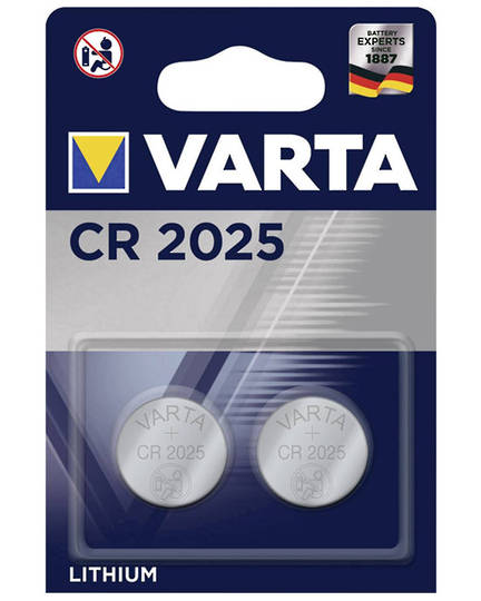 VARTA CR2025 Lithium Battery 2 Pack