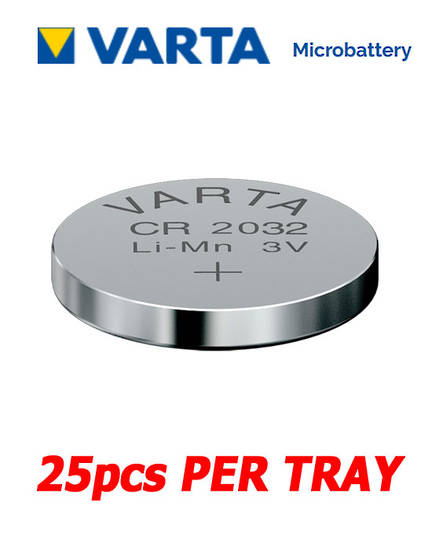 VARTA CR2032 Lithium Battery, 25Pcs Tray