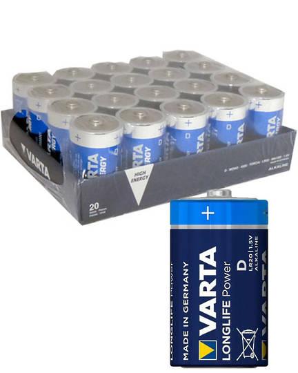 VARTA D Size Alkaline Battery 20 Pack