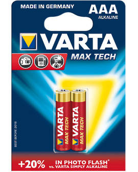 Varta Max Tech AAA Alkaline Battery 2 Pack