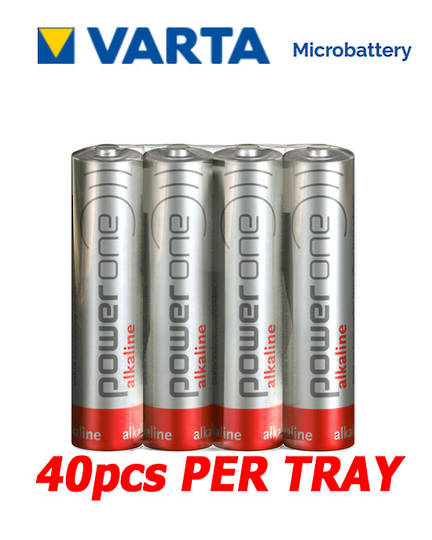 VARTA POWERONE AAA Alkaline Battery, Pack of 40