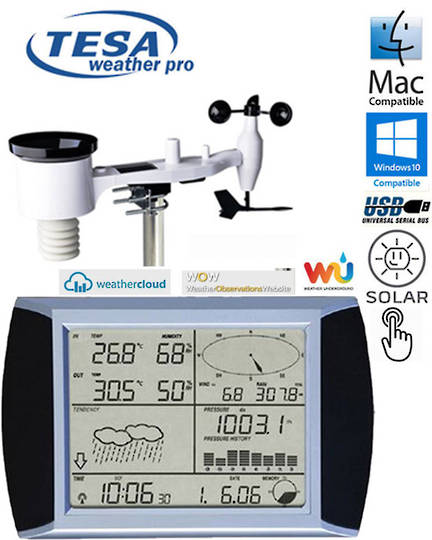 WS1081 Ver3 TESA Touch Screen Weather Center with PC interface