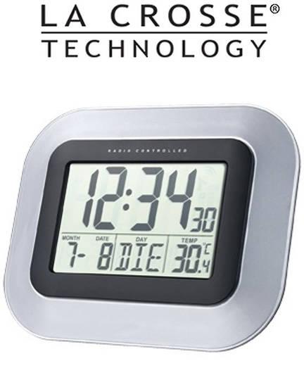 WS8005 La Crosse Wall Clock with Indoor Temperature