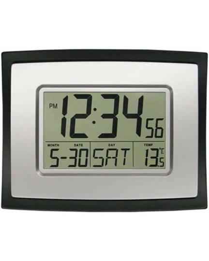WT-8002U La Crosse Wall Clock with Indoor Temperature