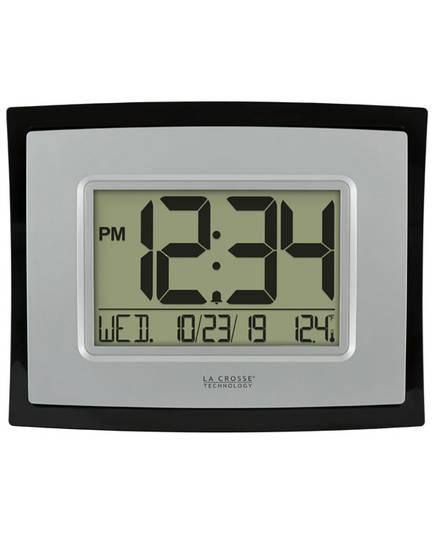 WT-8002UV2 Digital Wall Clock with Indoor Temp and Calendar