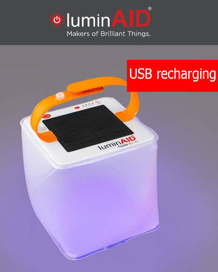 luminAID PackLite Spectra USB Solar Inflatable Lantern