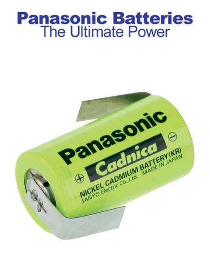 PANASONIC SUB-C Size Ni-Cd Battery with Tag