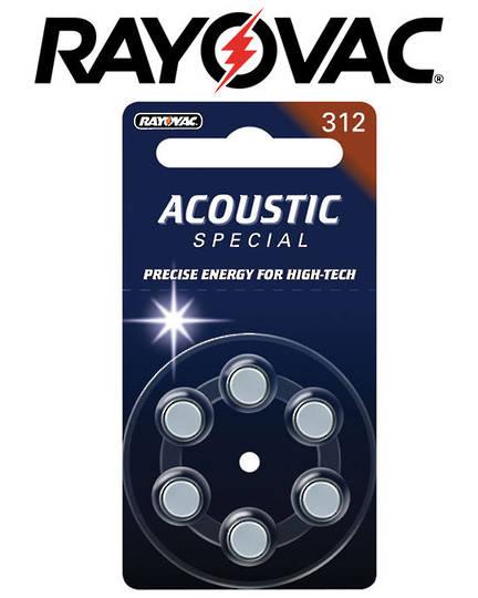 RAYOVAC Size 312 PR41 Hearing Aid Batteries