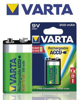 VARTA R2U Rechargeable Accu 9V 200mAh