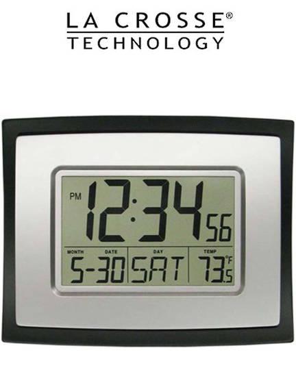 WT8002U La Crosse Wall Clock with Indoor Temperature