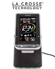 S86842 La Crosse Bluetooth Speaker Colour Weather Station
