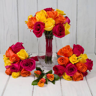 BRIGHT ROSE WEDDING FLOWERS
