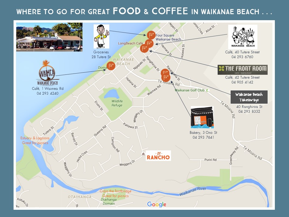 Places to eat in Waikanae Beach