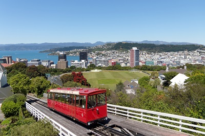 Wellington city with Cable Car