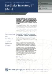 Life-Style Inventory - Self Assessment (LSI 1) - Brochure Only
