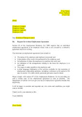 Employment Agreement request