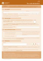 Tax Code Declaration