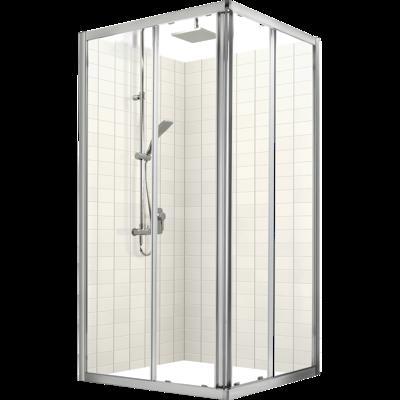 Studio Glide Square Sliding Shower Door & Return