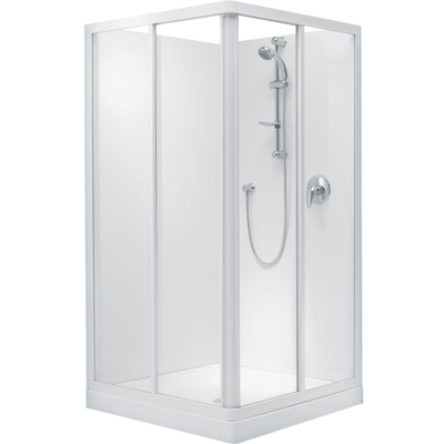 Sapphire Square Corner Sliding Shower 1000 x 1000mm