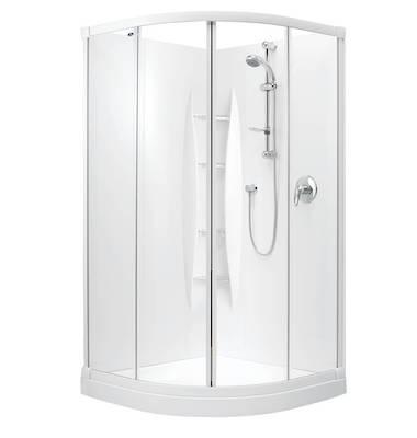 Sapphire Round Sliding Shower 1000 x 1000mm