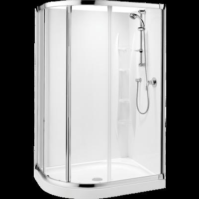 Sapphire Round Sliding Shower 1200 x 900mm