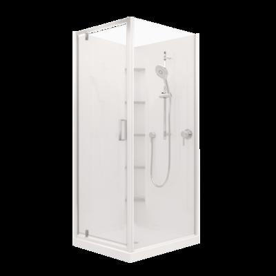 Valencia Elite Corner Pivot Shower (900x750mm) - Order Only