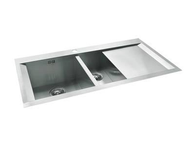 Cabriole Elite Kitchen Sink 1 1/4 Bowls