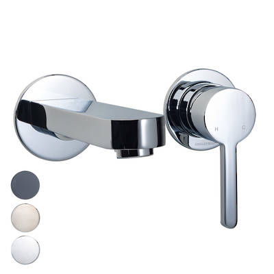 Studio Pin Lever Wall Mount Basin Mixer
