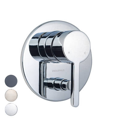 Studio Pin Lever Bath/Shower Mixer with diverter