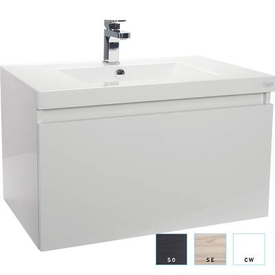 Valencia Single Drawer Wall-hung Vanity 750mm