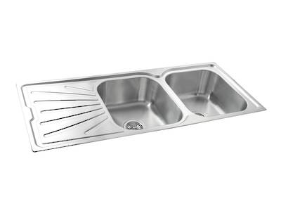 Clip Kitchen Sink Double Bowl