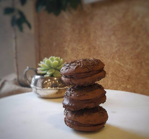 Chocolate Espresso Sandwich Cookies -737