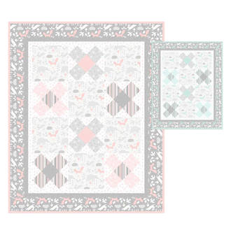 Little Gem Quilt Pink
