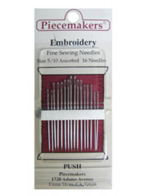 Embroidery Size 5/10 Assorted