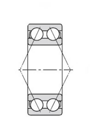 3210B: 50X90X30.2MM Bearing Angular Contact Double Row