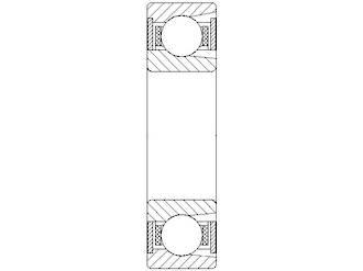 BL205 ZZ: 25X52X15MM Ball Bearing High Load 2 Steel Shield
