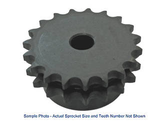 06B2 21T: Sprocket BS Duplex 3/8 INCH Pitch 21 Teeth