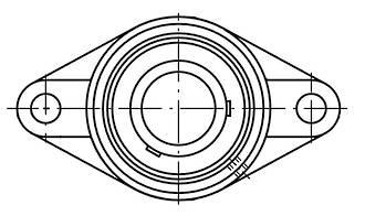 UCFL205 J7: 25MM Ball Bearing Unit Grub Screw 2 Bolt Flange FL205/UC205