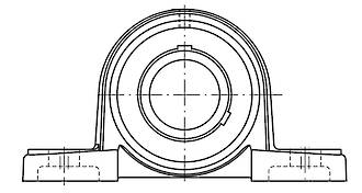 UCP207 J7: 35MM Bearing Unit Grub Screw Lock P207/UC207