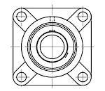 UCF205 J7: 25MM Ball Bearing Unit Grub Screw Lock F205/UC205
