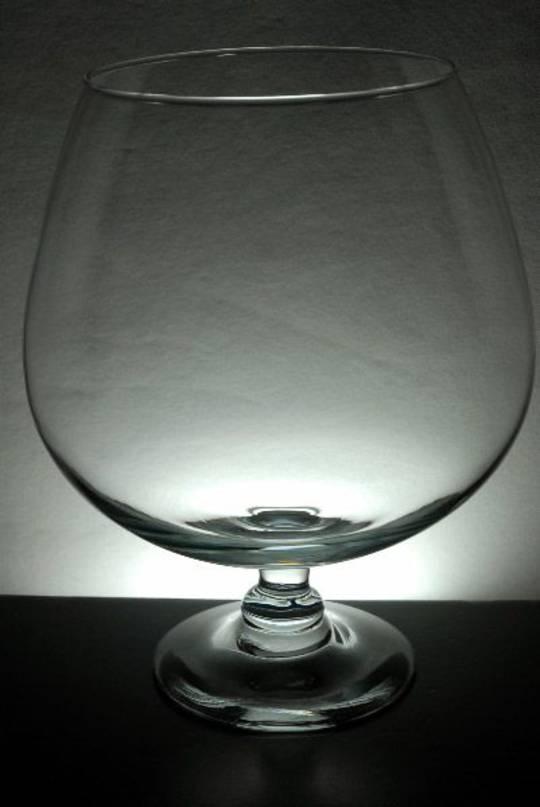 Brandy Glass Vase