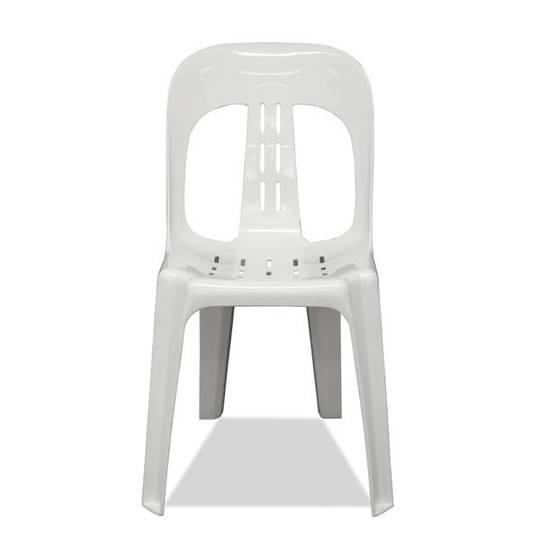 Resin Barrell White Chair