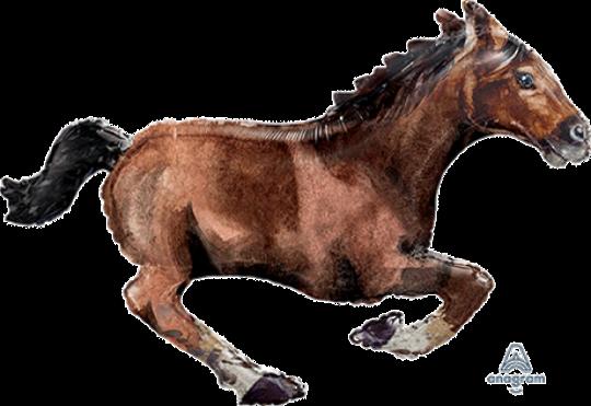 Foil Horse supershape helium filled (101cm)